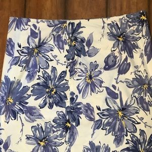 Purple Flowered Skirt